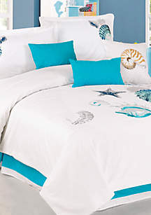 Panama Jack® Panama Jack Shells 7-Piece Queen Comforter Set - 92-in. x 96-in.