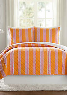 Louisa Textured Stripe Quilt - Full/Queen