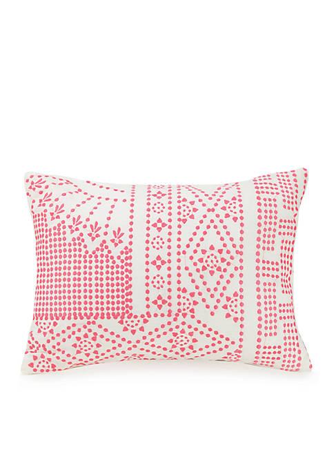 Vera Bradley Coral Floral Decorative Pillow