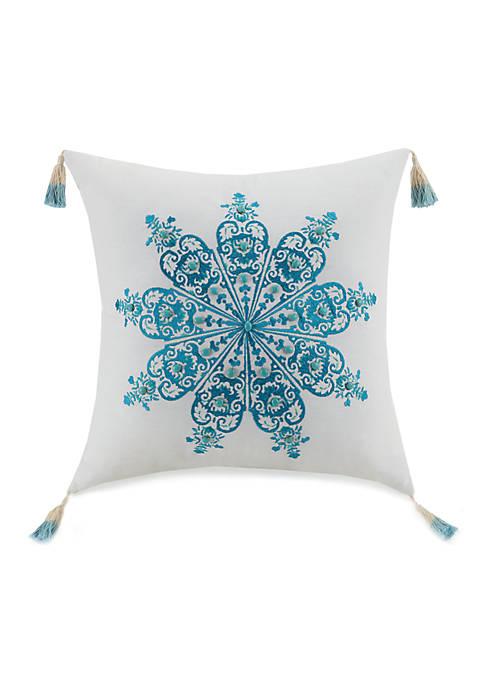 Jessica Simpson Aquarius Beads And Tassels Decorative Pillow