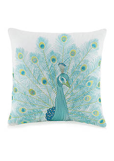 Jessica Simpson Aquarius Peacock Embellished Decorative Pillow