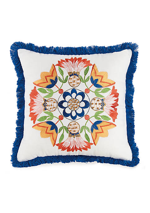 Jessica Simpson Provincial Fringe Dec Pillow 16x16