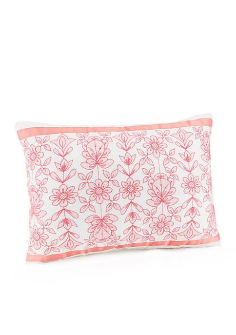 Ellie Ribbon Trim Decorative Pillow 12-in. ×16-in.