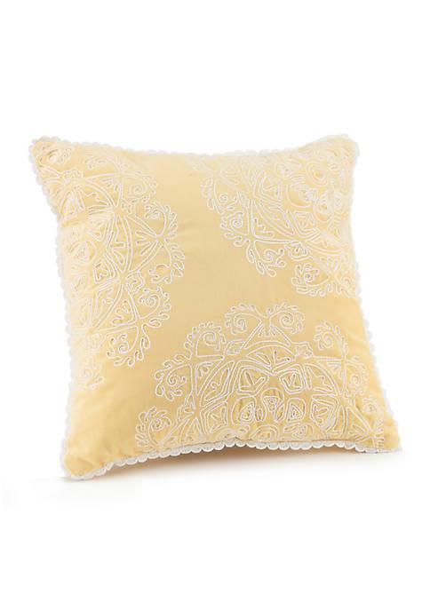 Ellie Pom Pom Trim Pillow  16-in.×16-in.