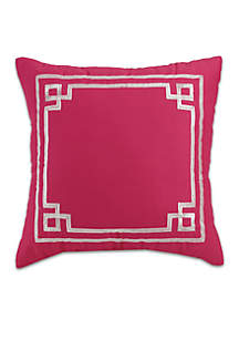 Watercolor Garden Embellished Decorative Pillow