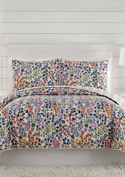 Twin Petite Floral Quilt