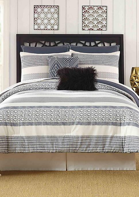 Deco Stripe Queen Comforter 7-Piece Set