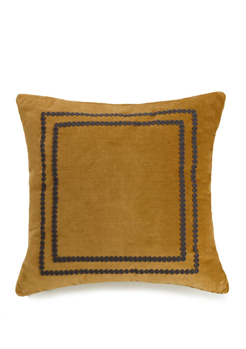 Crewel Embroidered Pillow