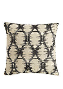 Embroidered Ogee Decorative Pillow