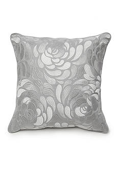 New Directions® Ava Square Gray Embroidered Floral Decorative Pillow