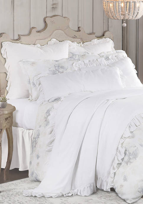 3 Piece Rosaline Washed Linen Comforter Set
