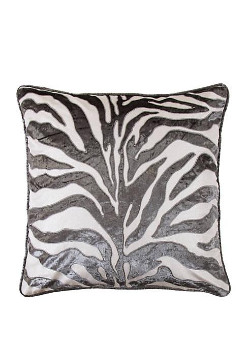 Celeste Zebra Velvet Applique European Sham