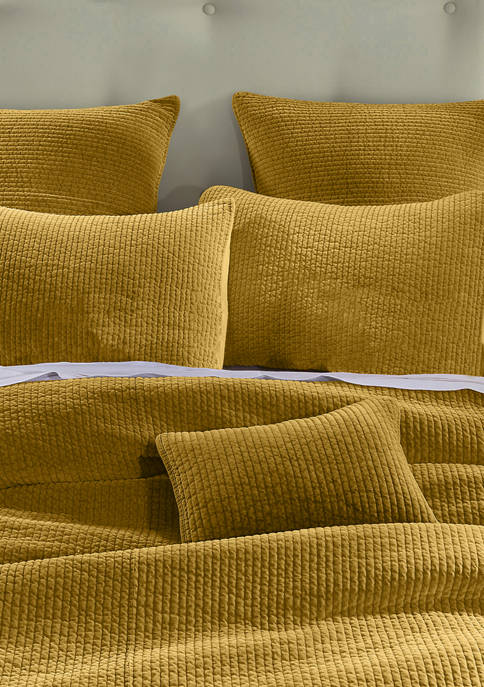 Stone Washed Cotton Velvet Quilt Set