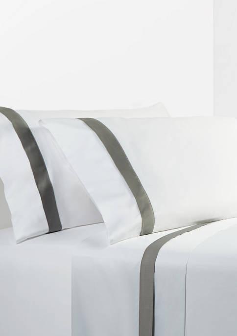 HiEnd Accents Flange Design Cream Sheet Set