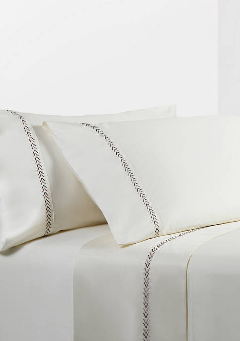 HiEnd Accents Embroidery Arrow Sheet Set