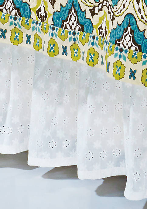 HiEnd Accents Eyelet Twin Bed Skirt