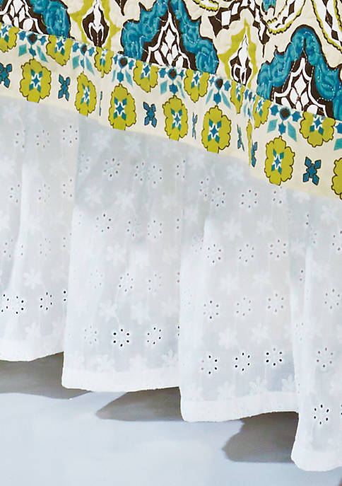 Eyelet Twin Bed Skirt