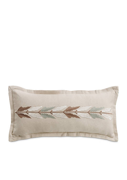 HiEnd Accents Belmont Embroidered Linen Decorative Pillow