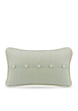 Belmont Decorative Pillow with Linen Buttons