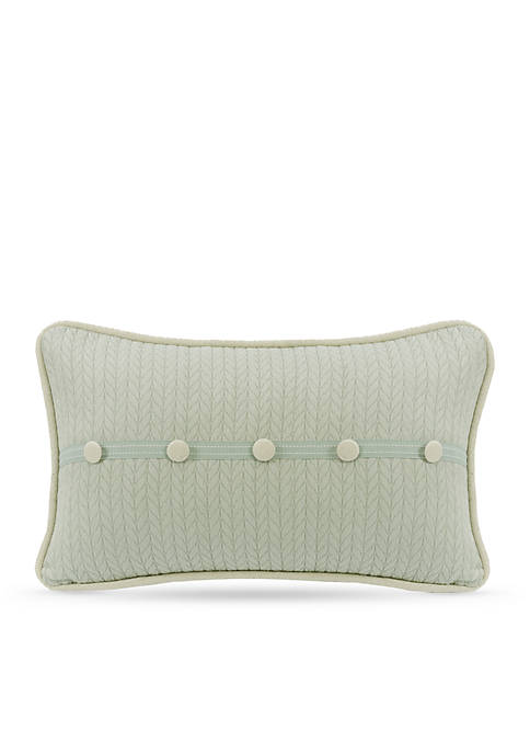 HiEnd Accents Belmont Decorative Pillow with Linen Buttons