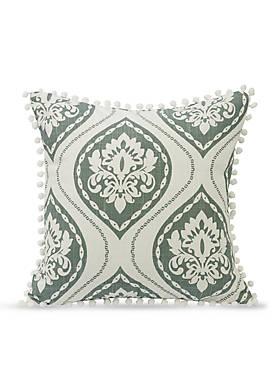 Belmont Decorative Pillow With Pom Trim
