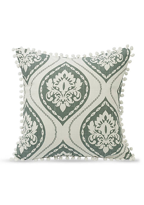 HiEnd Accents Belmont Decorative Pillow With Pom Trim