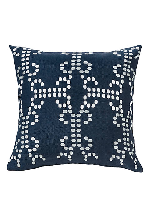 HiEnd Accents Kavali Embroidered Decorative Pillow