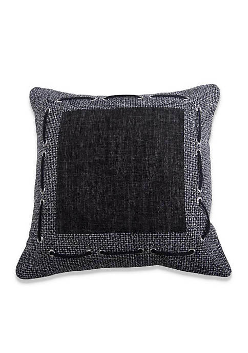 HiEnd Accents Hamilton Decorative Pillow with Framing Laced