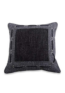 Hamilton Decorative Pillow with Framing Laced Rope