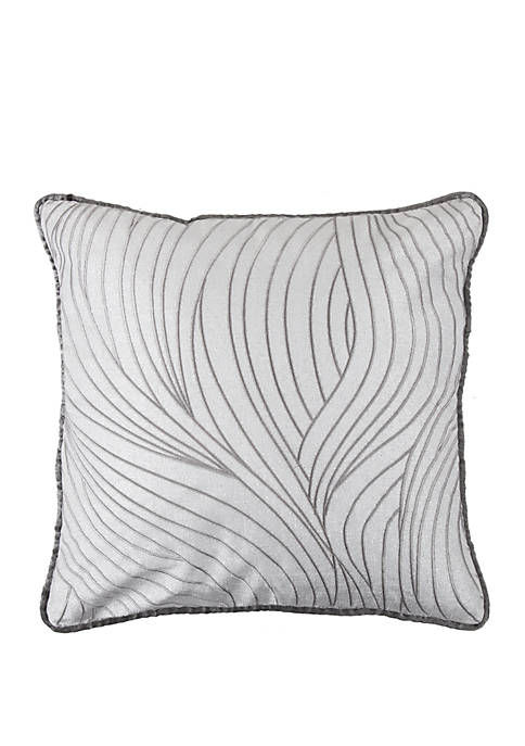 HiEnd Accents Celeste Wave Embroidery Pillow