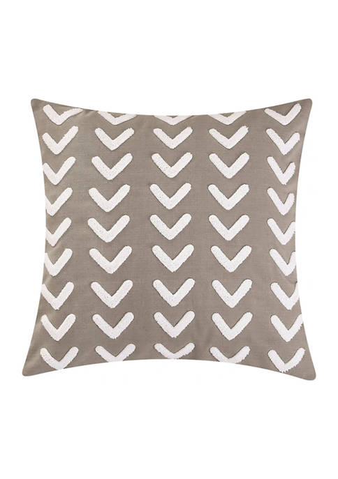 HiEnd Accents Applique Arrow Design Pillow