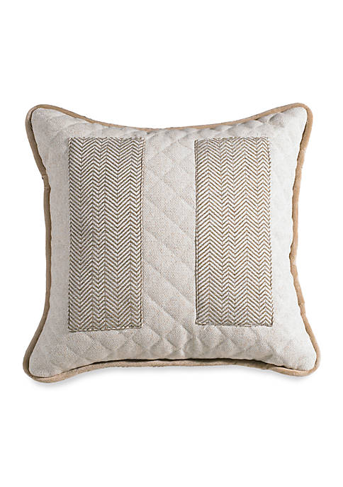 HiEnd Accents Fairfield Decorative Square Pillow 18-in. x