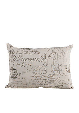 Fairfield Script Oblong Decorative Scroll Pillow 16-in. x 21-in.