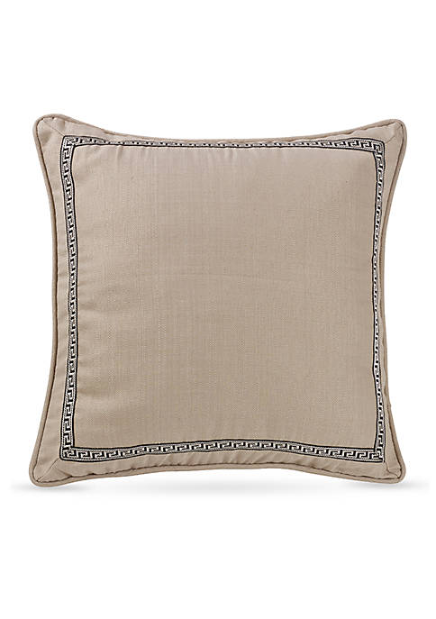 HiEnd Accents Augusta Khaki Euro Sham with Greek