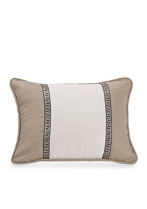 HiEnd Accents Oblong Matelasse Decorative Pillow with Trim