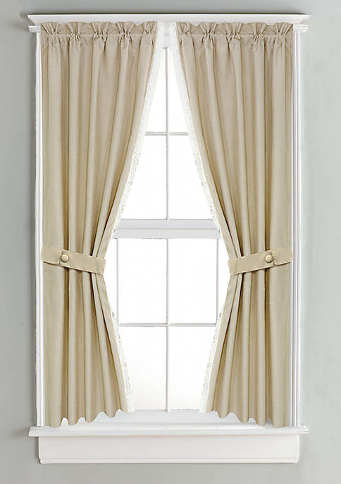 Linen Curtain with Lace Detail