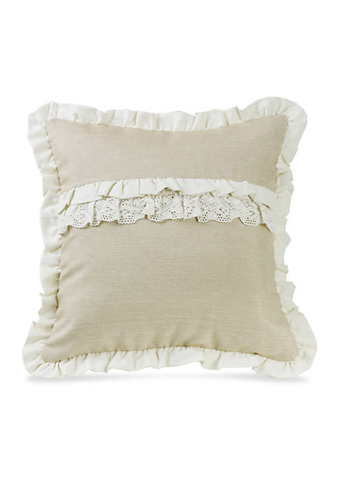 HiEnd Accents Ruffle Trim and Lace Accent Decorative