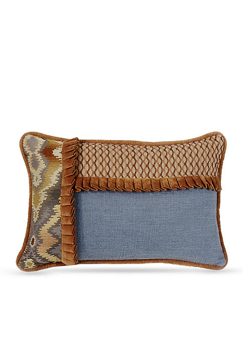 HiEnd Accents Lexington Decorative Pillow with Ruffle Detail