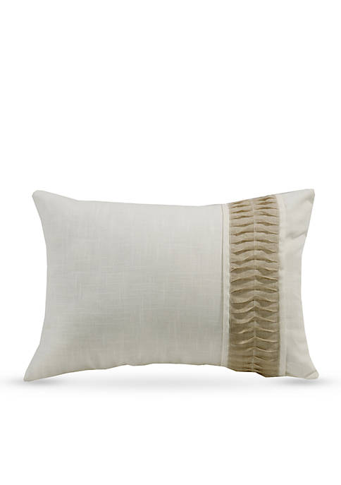 HiEnd Accents Newport Linen Decorative Pillow with Rouching