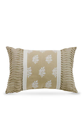 Oblong Pillow with Rouching Ends