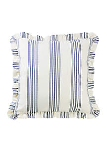 HiEnd Accents Striped Euro Sham With Ruffle