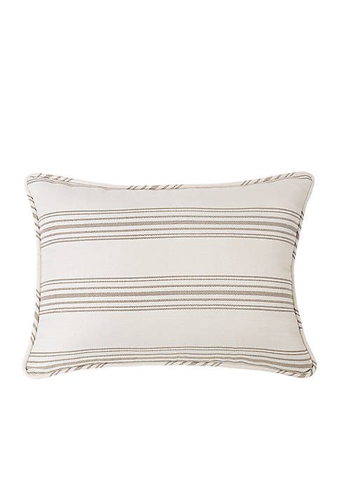 HiEnd Accents Prescott Stripe Standard Pillow Shams