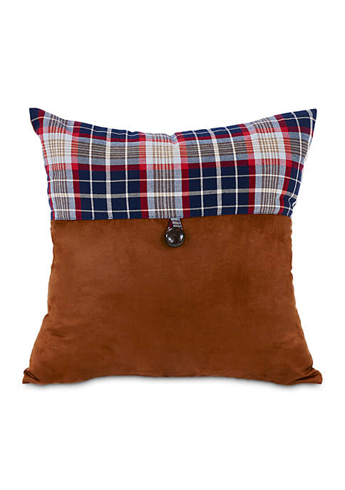 HiEnd Accents South Haven Plaid Envelope Pillow