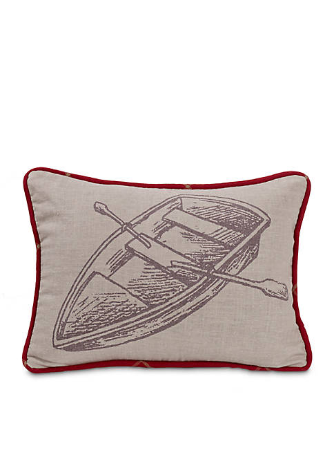 HiEnd Accents South Haven Rowboat Pillow 16in. x