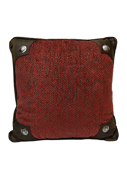 HiEnd Accents Wilderness Ridge Scalloped Pillow 18-in. x
