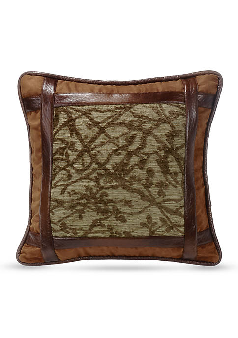 HiEnd Accents Highland Framed Tree Decorative Pillow