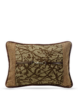 Highland Tree Decorative Pillow with Buckle Detail