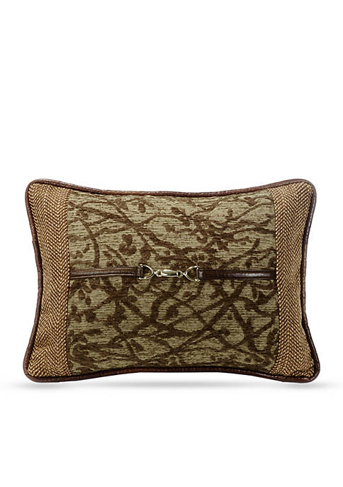 HiEnd Accents Highland Tree Decorative Pillow with Buckle