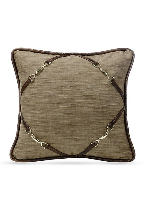 HiEnd Accents Highland Decorative Pillow with Buckle Corners