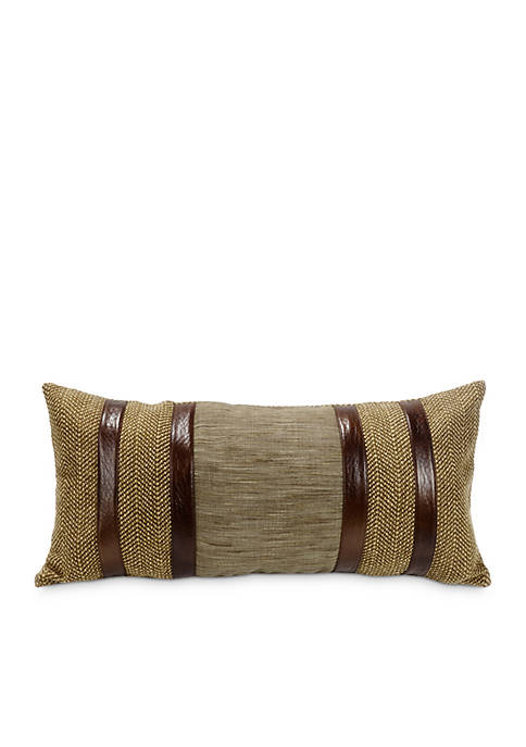 HiEnd Accents Highland Faux Leather Stripe Pillow